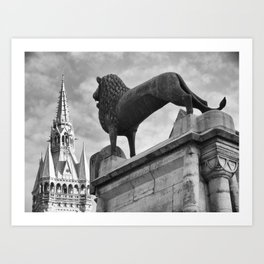 The Brunswick Lion and Town Hall Art Print
