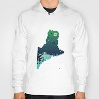 maine Hoodies featuring Almost, Maine by Typo Negative