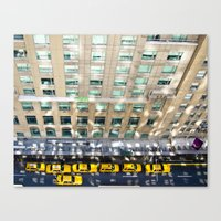 blair waldorf Canvas Prints featuring Above the Waldorf by Adam Michiels