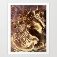 diablo Art Prints featuring Diablo by daniel_b_demented