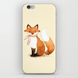 Fox . watercolor painting iPhone Skin