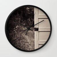 door Wall Clocks featuring Door by Vintage Rain Photography