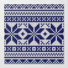 Winter knitted pattern 5 Canvas Print