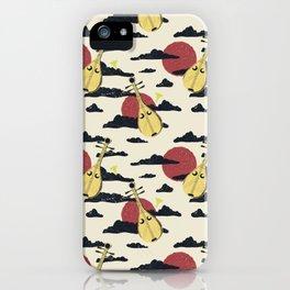 Japanese Biwa Sunset iPhone Case