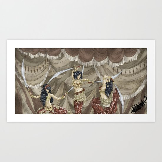 Midnight Circus: Sword Dancers by dreasale