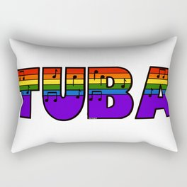 Rainbow Tuba Rectangular Pillow