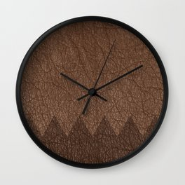 Cowhide two color Wall Clock
