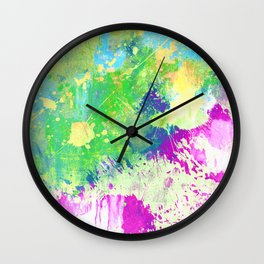 Love Colour (Abstract, colourful painting) Wall Clock