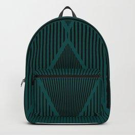 Folded Black & Emerald Backpack