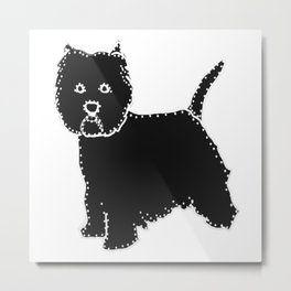 I have Connected the WESTIE Doggy Dots! Metal Print