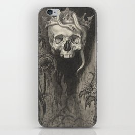 Skull Crowned with Snakes and Flowers, The Duchess of Malfi iPhone Skin