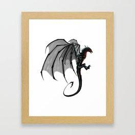 black and red Dragon Framed Art Print