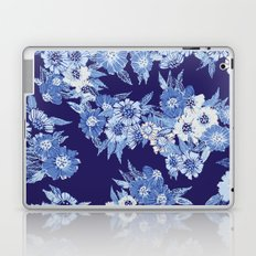 Floral pattern in Indigo Laptop & iPad Skin