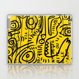 Yellow Street Art Graffiti Train Ticket Laptop & iPad Skin