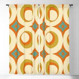 Mid-Century Modern Orange Blackout Curtain
