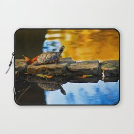 Turtle on the stone Laptop Sleeve