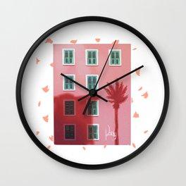 Twilight and windows Wall Clock