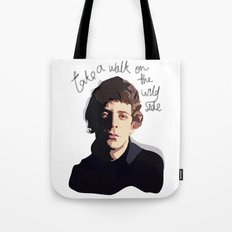 Lou Reed - Walk on the Wild Side Tote Bag