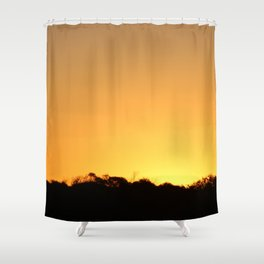 Golden Hour on the Nullarbor Shower Curtain