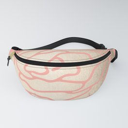 Rose White Gold Sands on Salmon Pink Fanny Pack