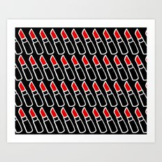 Red Lipstick Art Print