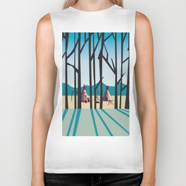 Sleepy Mountains Biker Tank