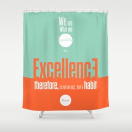 Lab No. 4- Aristotle Quote motivational typography Quote Poster Shower Curtain