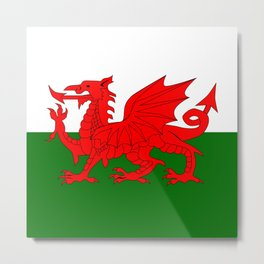 Welsh Dragon Flag Metal Print