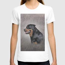 Drawing dog rottweiler T-shirt