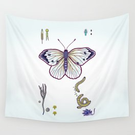 cabbage butterfly Wall Tapestry