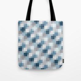 Water Pixels Tote Bag