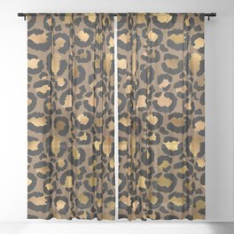 Leopard Metal Glamour Skin Sheer Curtain