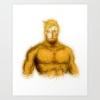 aquaman Art Prints featuring Aquaman by KitschyPopShop