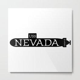 USS Nevada Submarine Metal Print