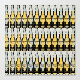 Corona beer pattern pop art illustration Canvas Print