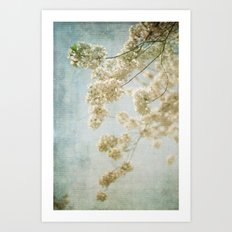 Blessings - Cherry Blossoms Art Print