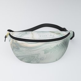 Luxury Turquoise Marble texture Fanny Pack