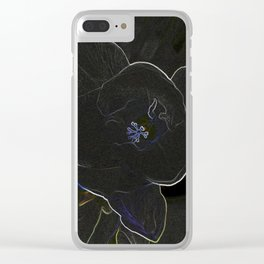 freesia flowers outlined Clear iPhone Case