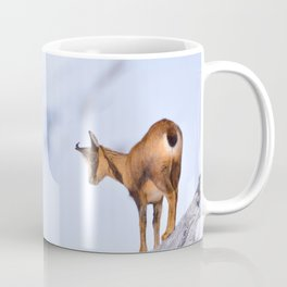 Chamois in the snow Coffee Mug
