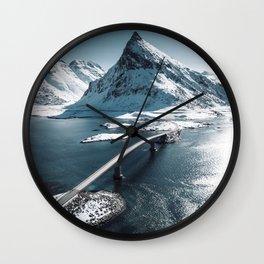 lofoten bridge Wall Clock
