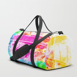 closeup Golden Gate bridge, San Francisco, USA with colorful painting abstract background Duffle Bag
