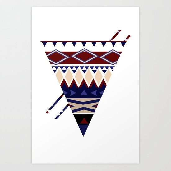 MellowToneTriangle Art Print