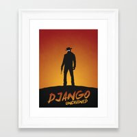 django Framed Art Prints featuring Django by Nick Kemp