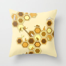 Queen of the Catacombs Throw Pillow