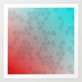 Digital pattern Art Print