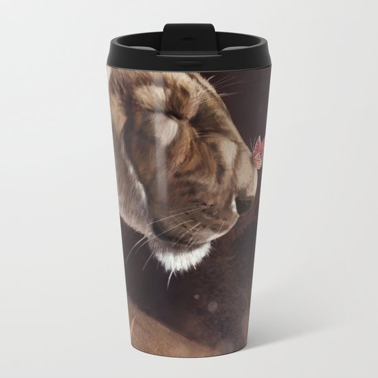 Butterfly Kiss Metal Travel Mug