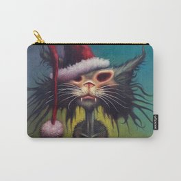 Zombie Cat Christmas Carry-All Pouch