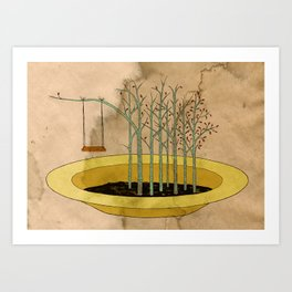- the swing in the soup - Art Print