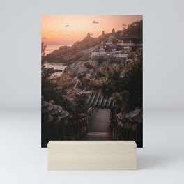 Sunrise at a Korean Temple in Busan, South Korea | Landscape Photography Mini Art Print