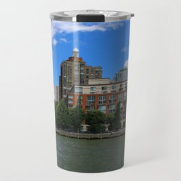 Manhattan And Hudson River Travel Mug